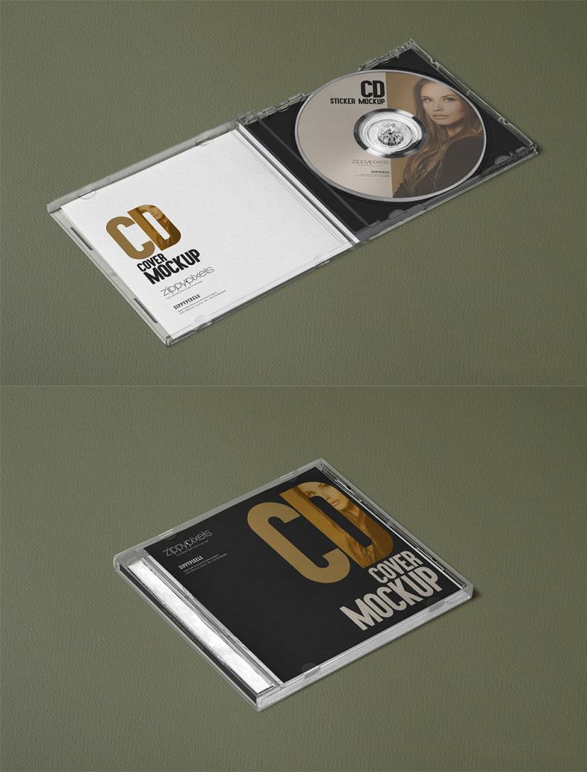Free Plastic CD Case Mockups