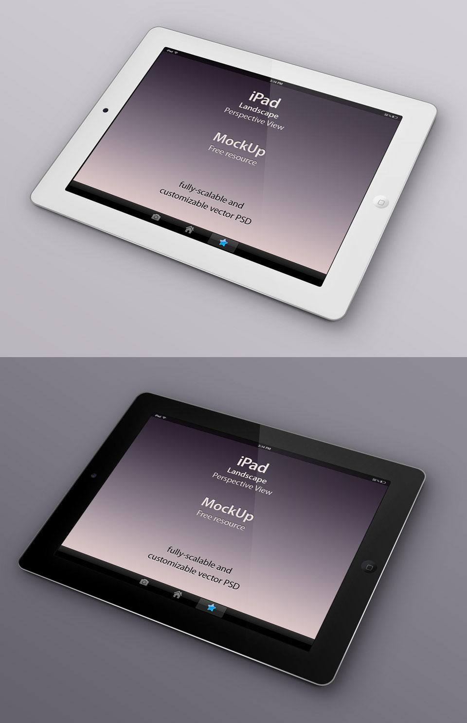 Free Perspective iPad Mockup