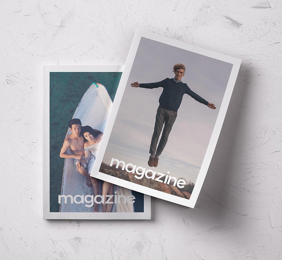 Free Double Magazine Mockup