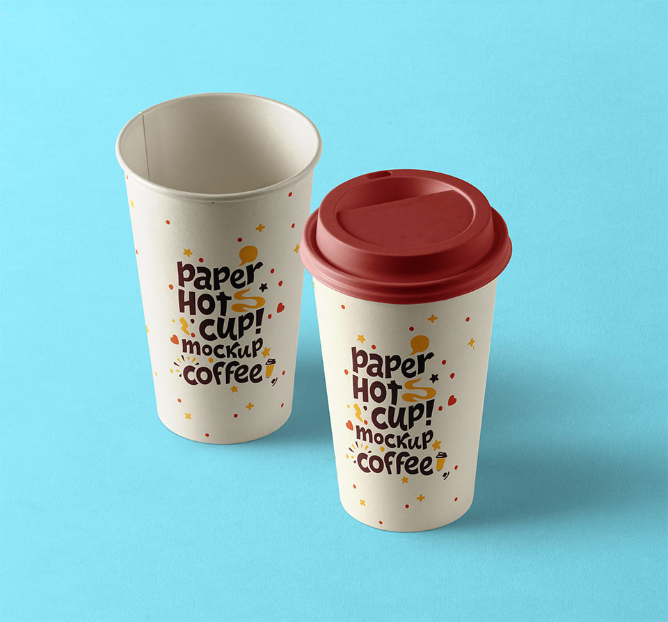 Free PSD Paper Hot Cup Mockup