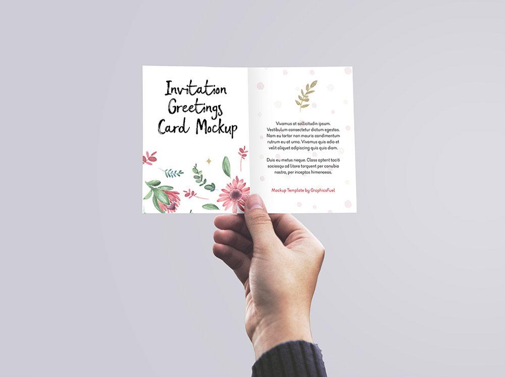 Free Invitation / Greeting Card Mockup