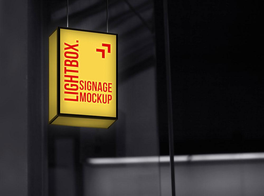 Free Lightbox Signage Mockup