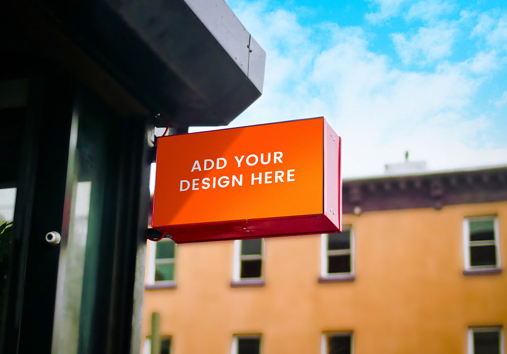 Free Outdoor Store Signage Mockup