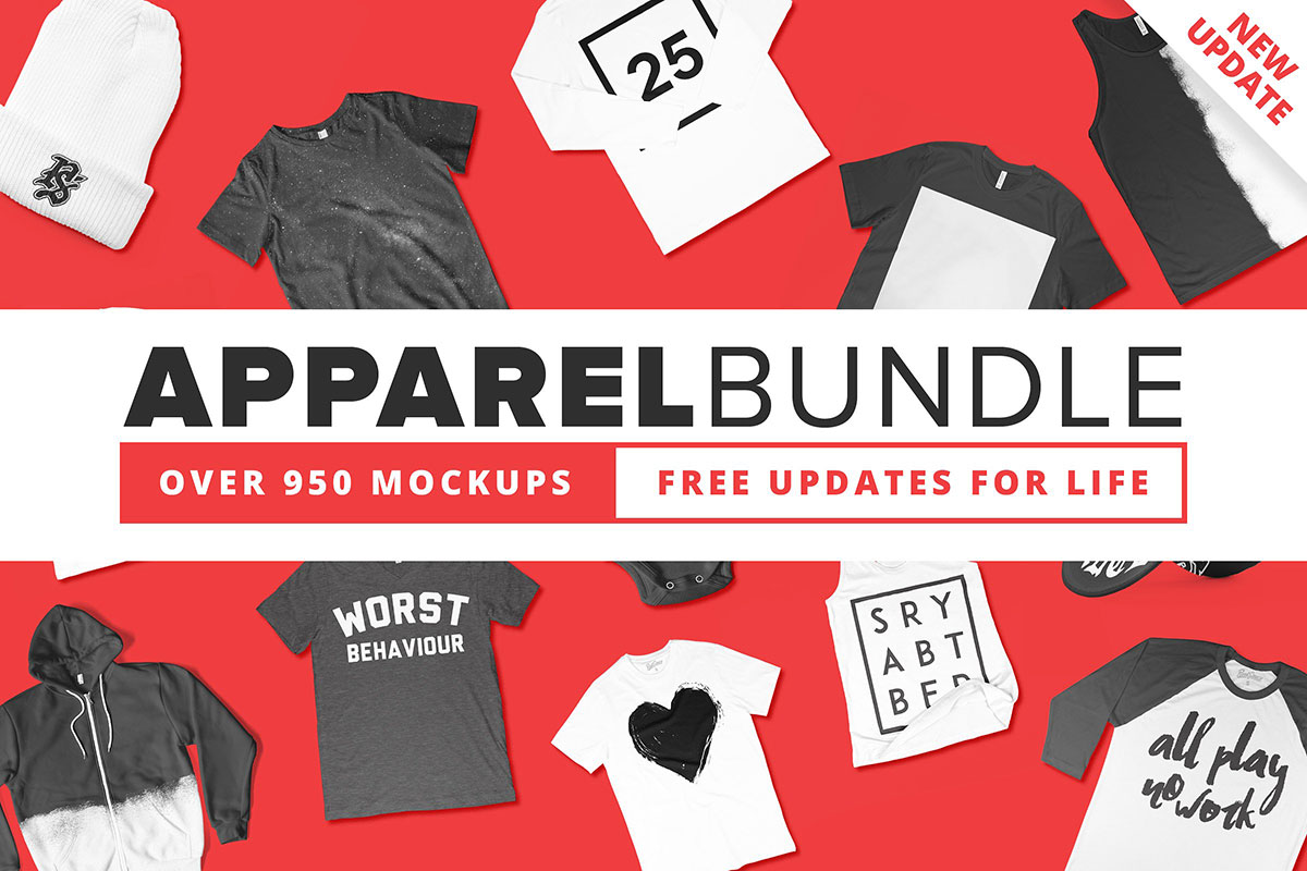 900+ Best Apparel Mockups Bundle