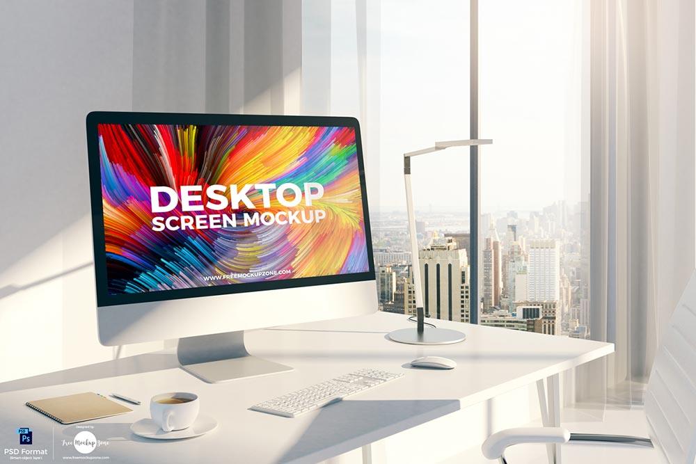 Free Desktop Screen Mockup