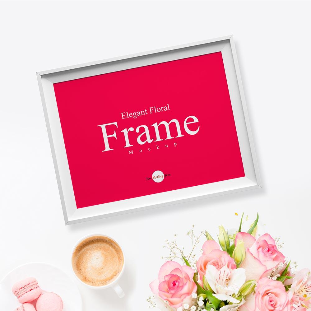Free Floral Frame Mockup