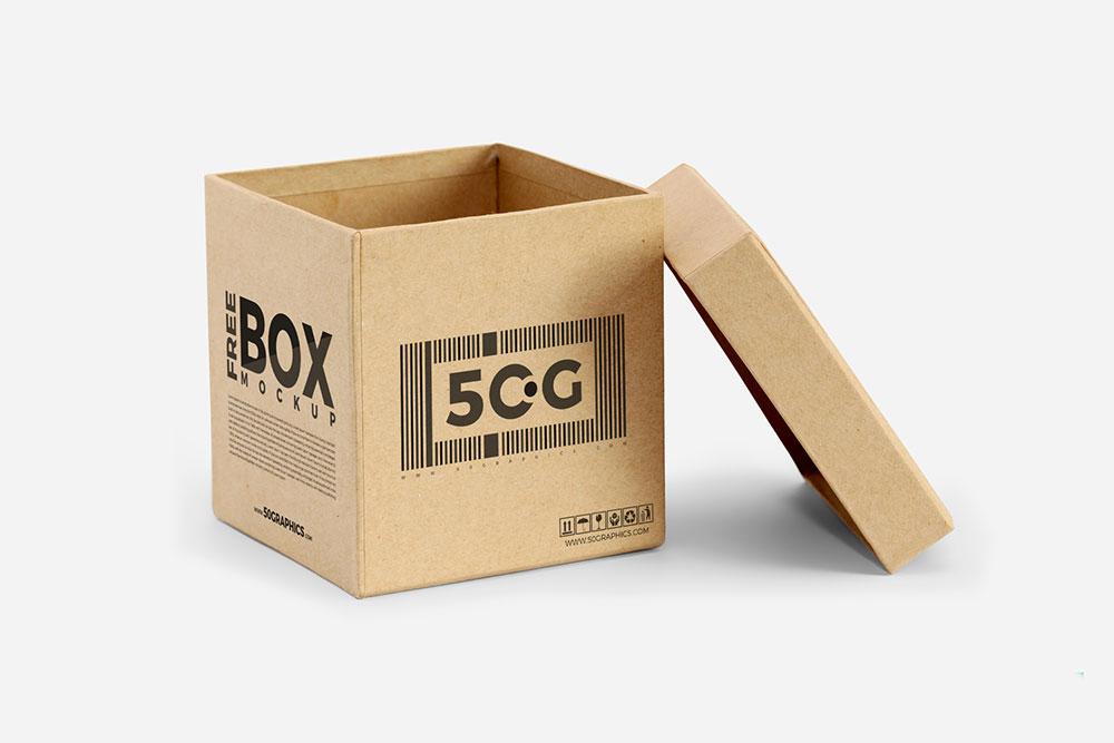 Free Open Box Mockup