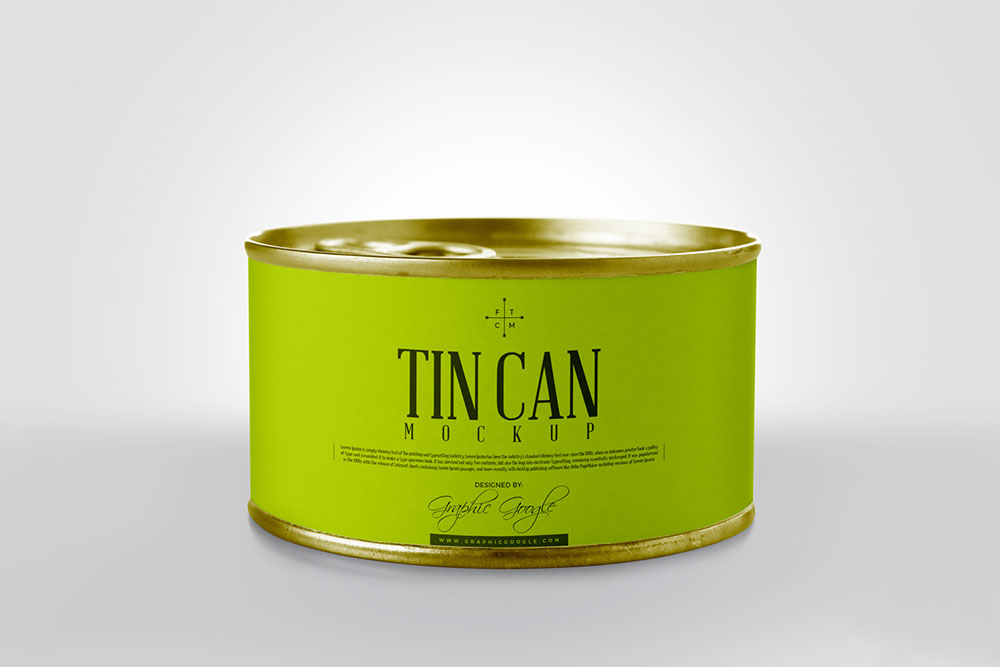 Free Photorealistic Tin Can Mockup