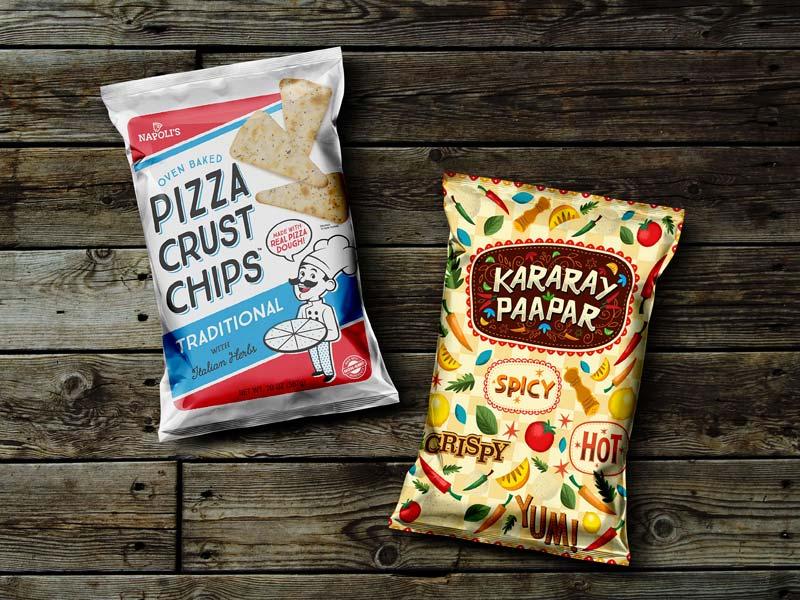 Free Snack Pack Packaging Mockup