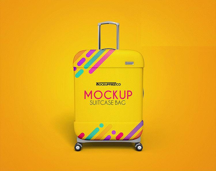 Free Suitcase Bag Mockups