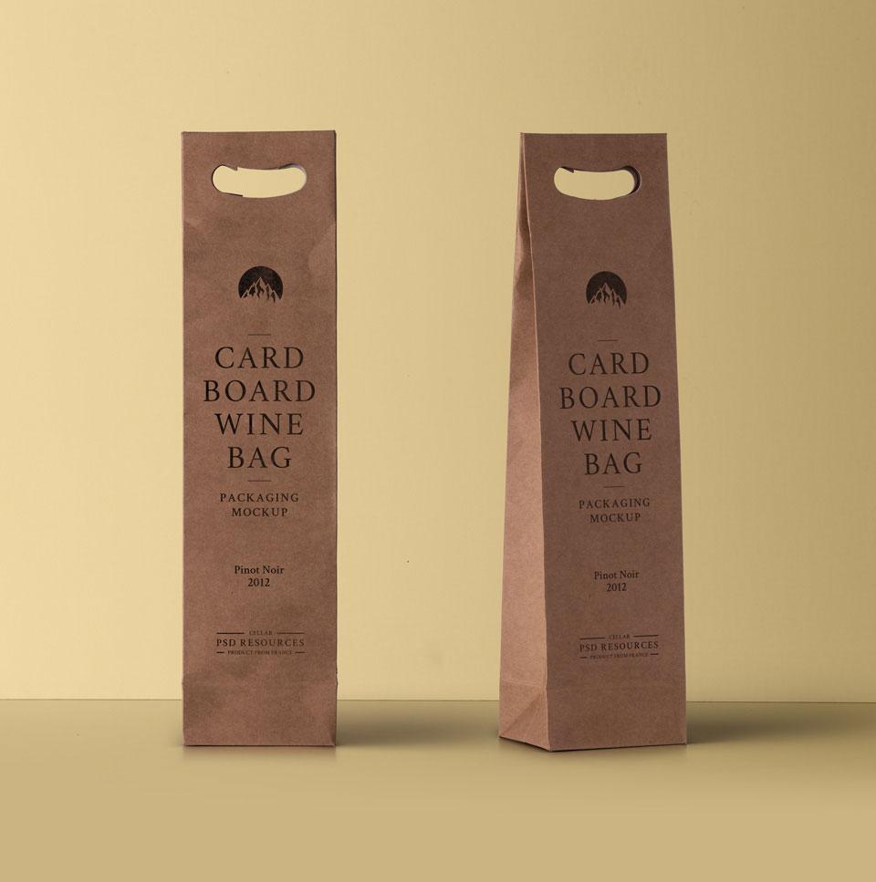 Free Wine Cardboard Bag