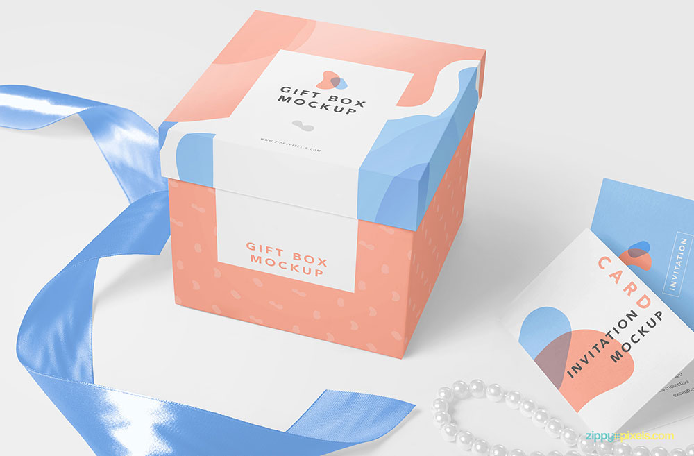 Free Luxury Gift Box Mockup