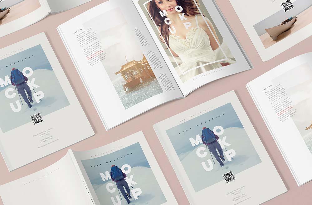 Free Magazine Mockup Templates