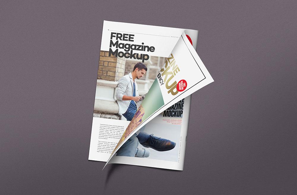 Free Magazine Page Mockup