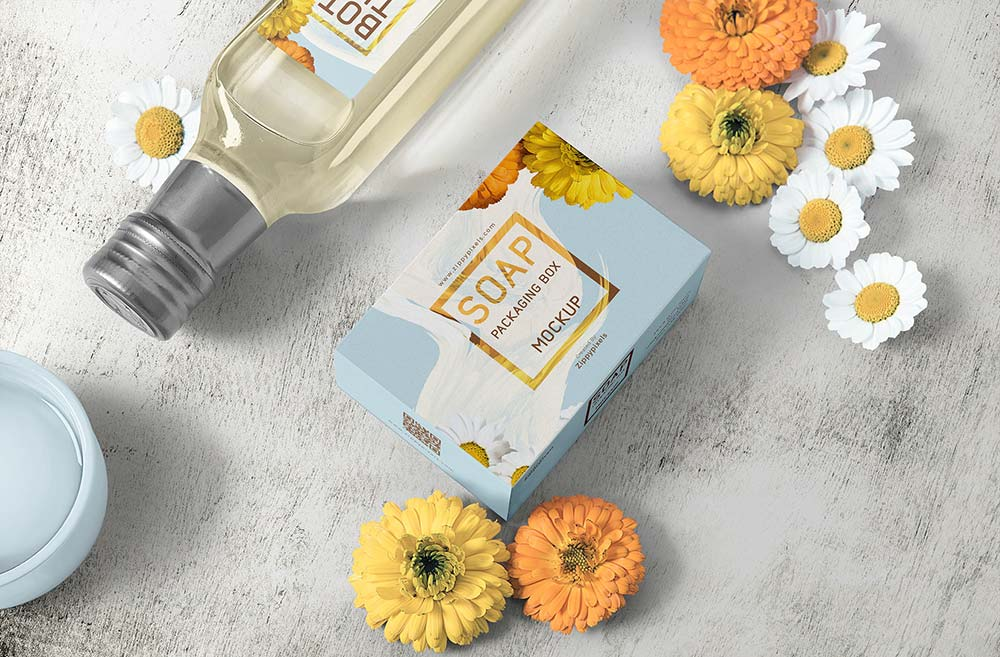 Free Soap Packaging Mockup