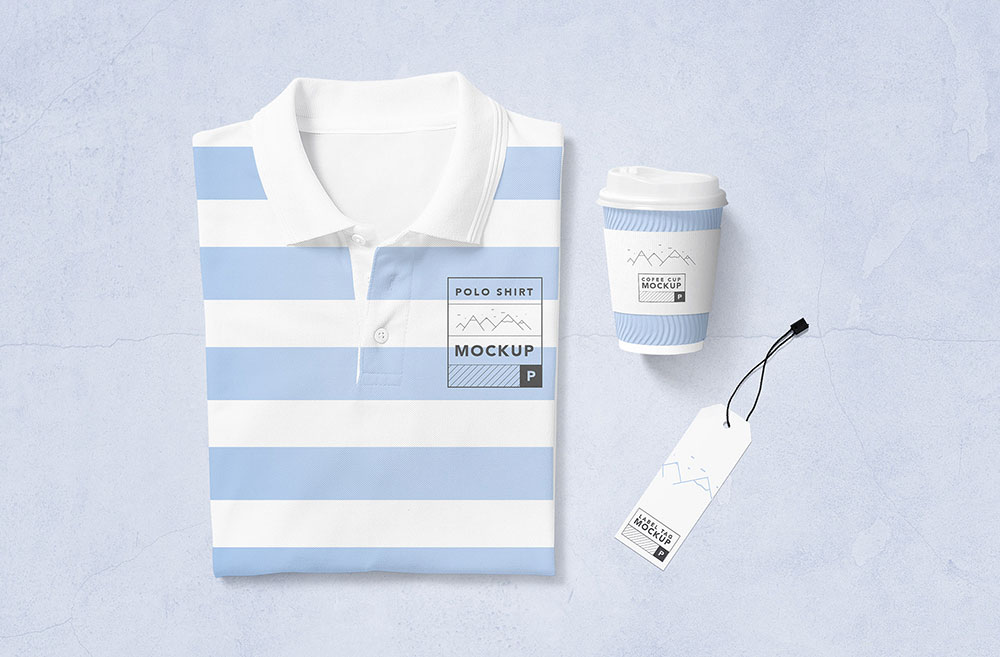 Free Modern Polo T-Shirt Mockup