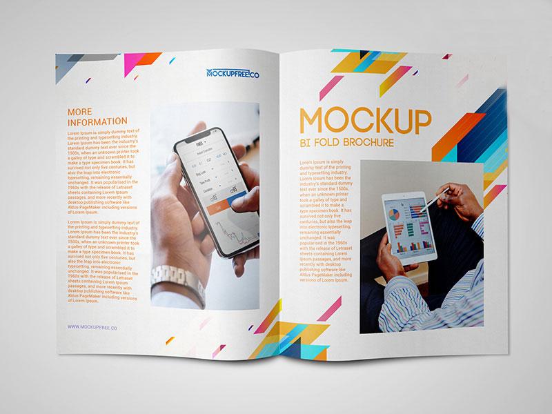 Free Bi-Fold Brochure Mockups