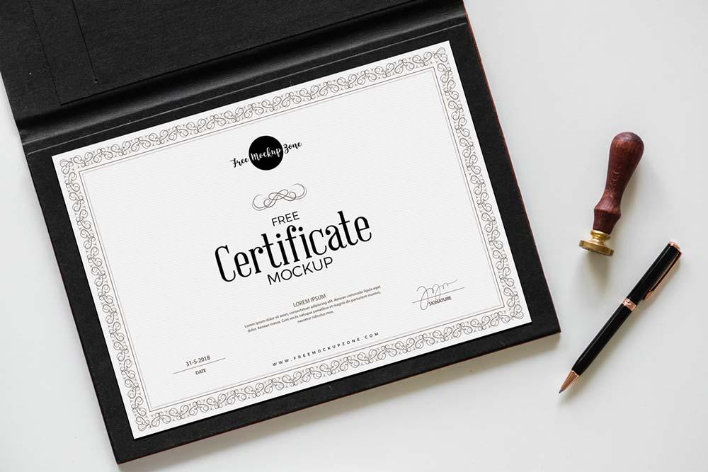 Free Certificate Mockup