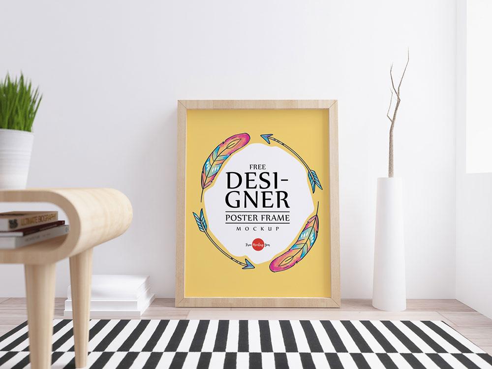 Free Designer Poster Frame Mockup