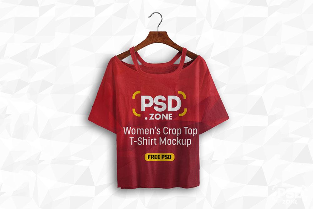 Free Women Crop Top Mockup