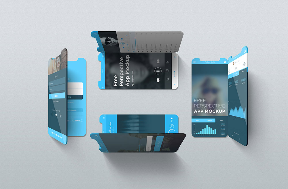 Free iOS Perspective Mockups
