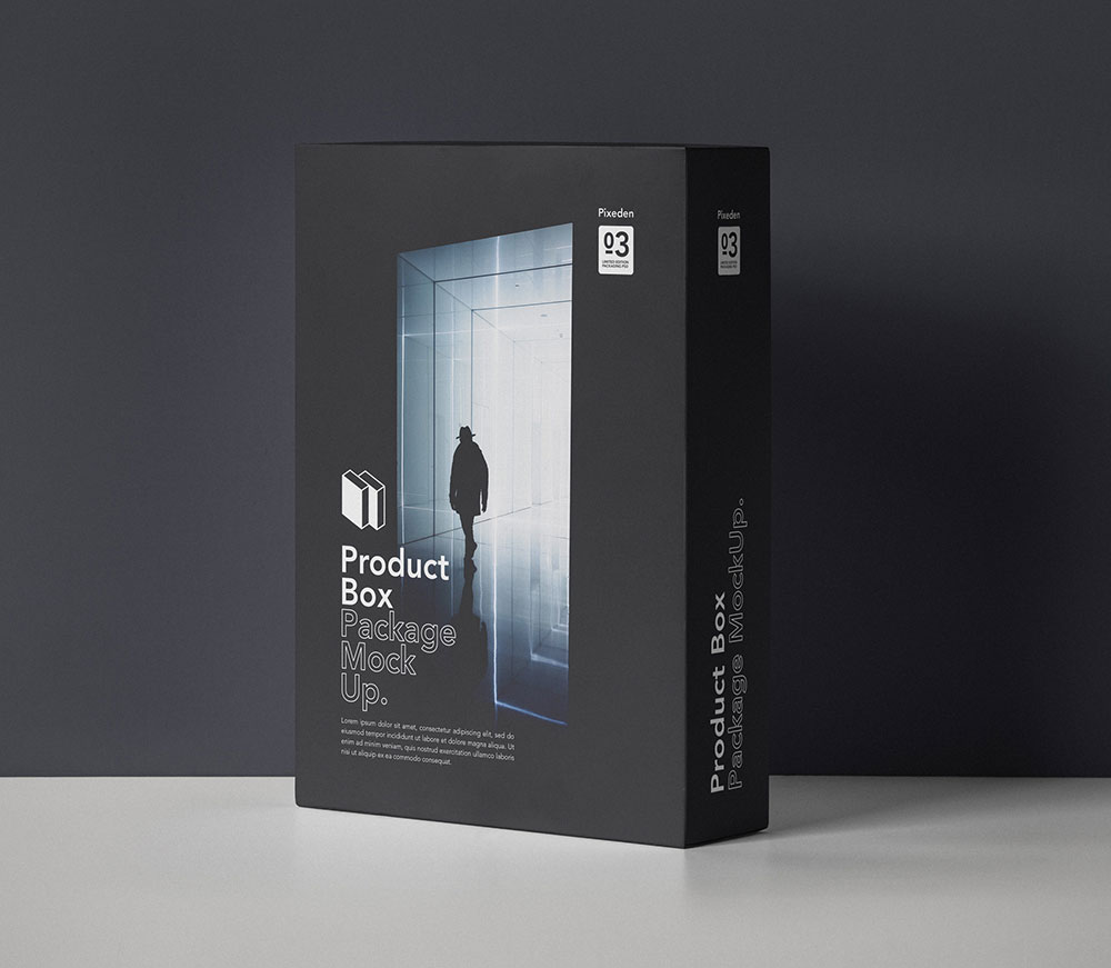 Free Product Box Package Mockup