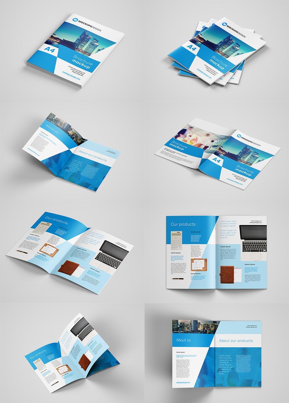 Free New A4 Brochure Mockup