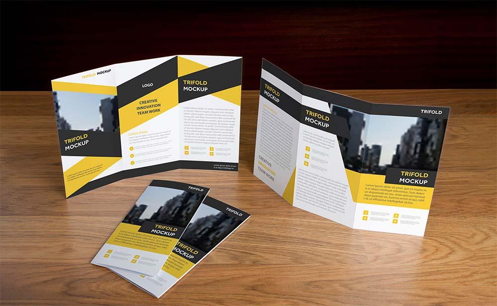 Free Trifold Brochure Mockups