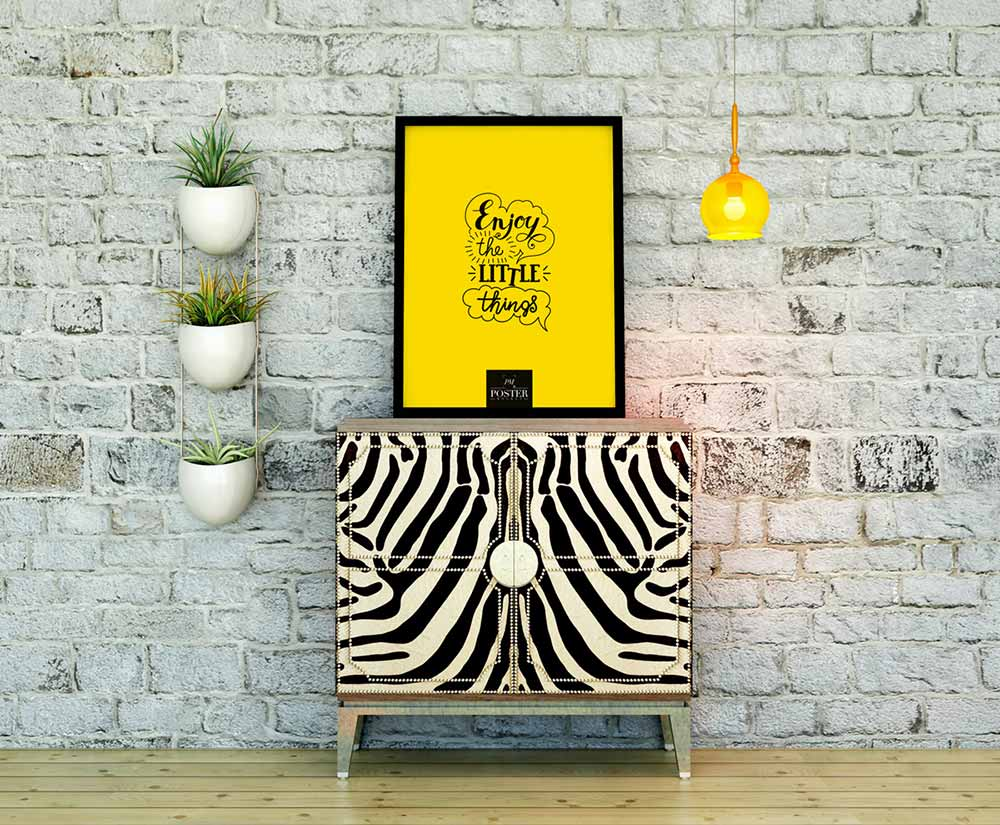 Free Interior Showcase Poster Mockup