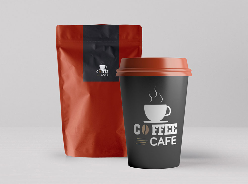 Free Coffee and Paper Cup Mockup