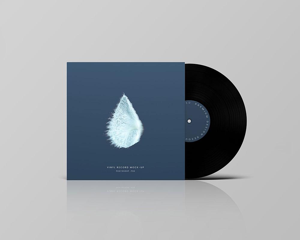 Free Vinyl Record Mockup Template