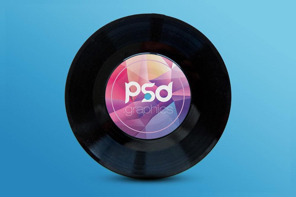 Free Vinyl Record PSD Mockup
