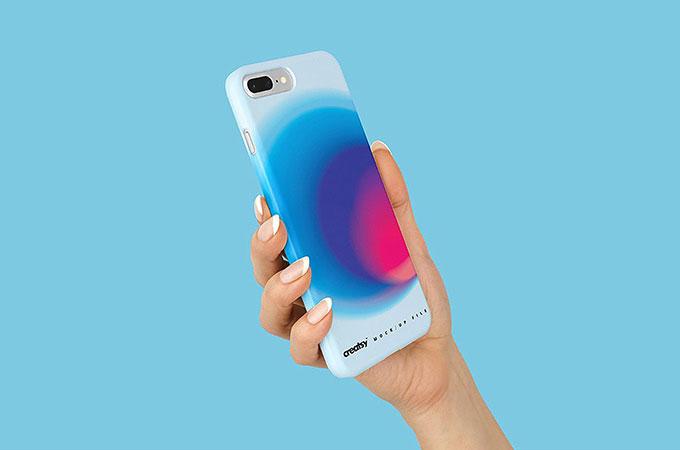 Free Plastic iPhone 8 Case Mockup