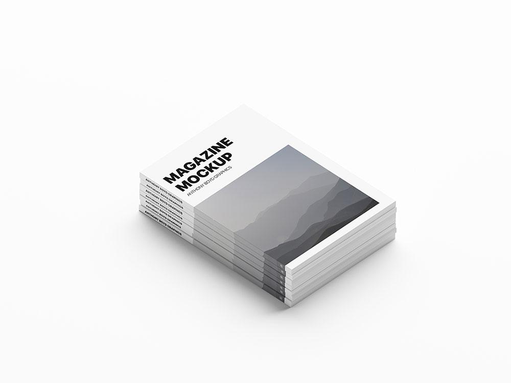 Free Stack Magazine Mockup