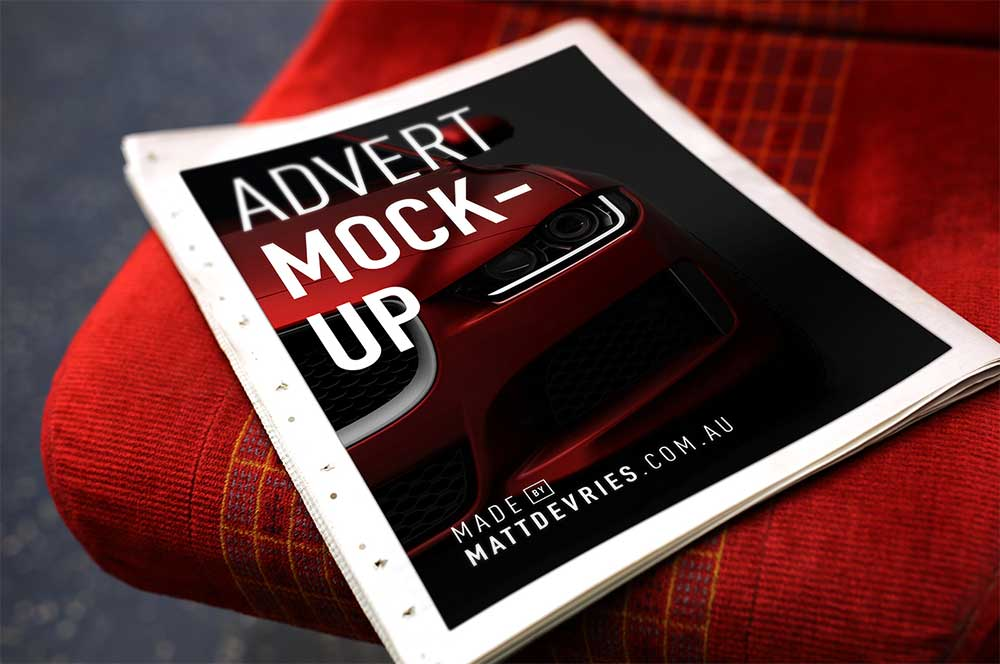 Free Newspaper Mockup For Advertising