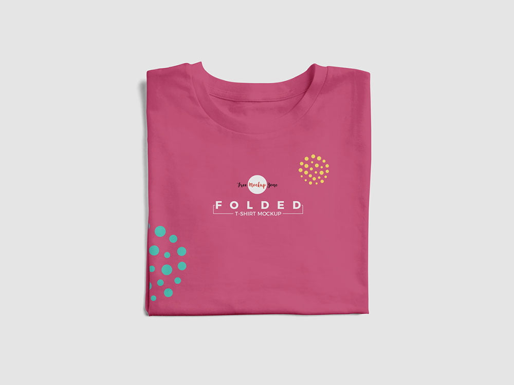 Free Brand Folded T-Shirt Mockup