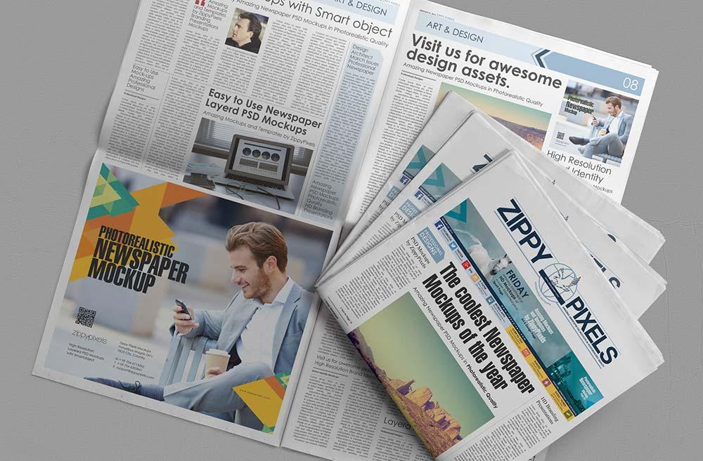 Free Newspaper Advertising Mockup