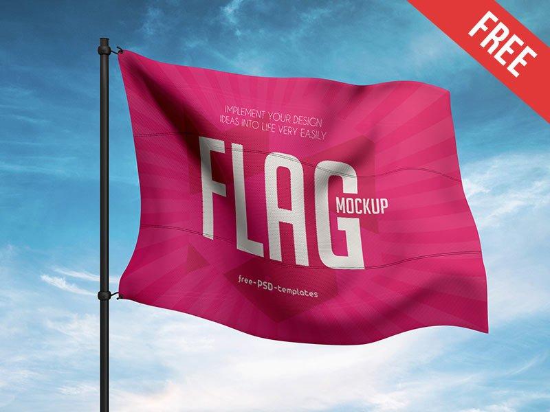 15 Best Free Flag Mockups Mockuptree