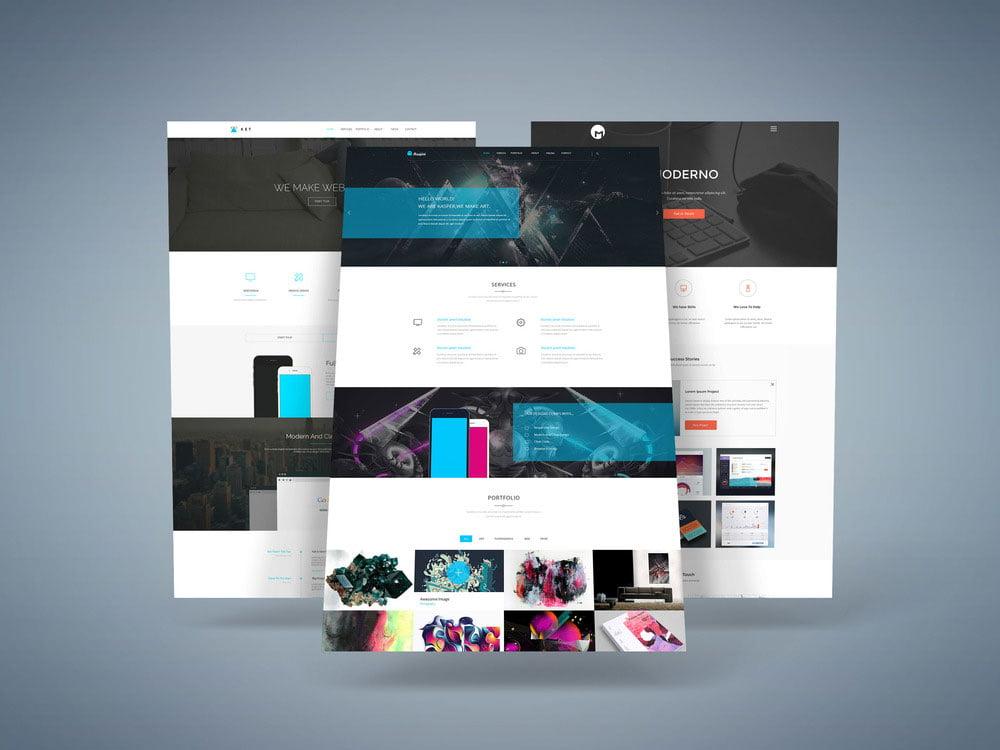 Free 3D Website Mockup