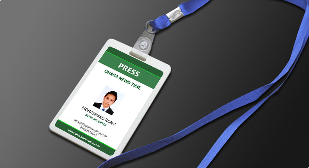 Free Corporate ID Card Holder Mockup