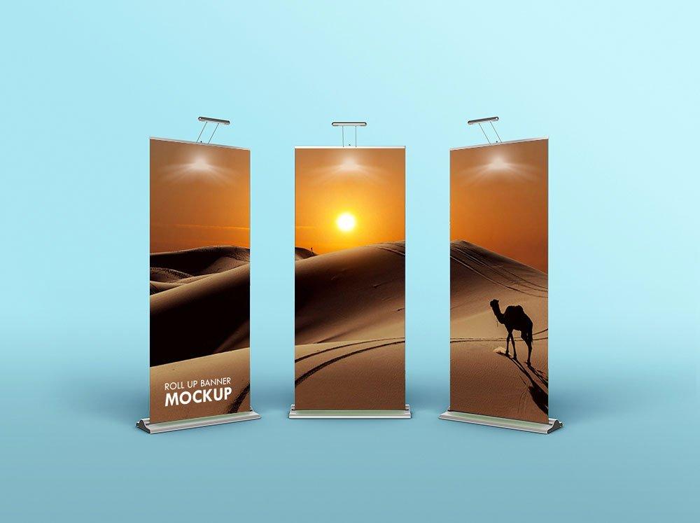 Free Roll-up Banner Mockups