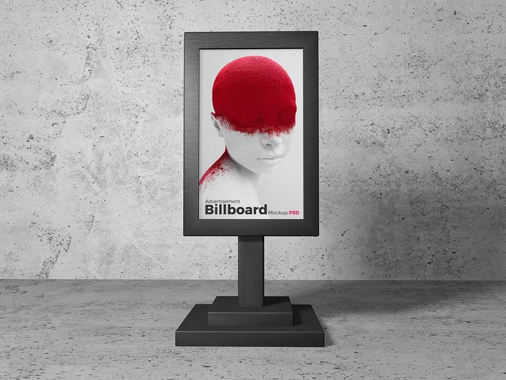 Free Billboard Stand Mockup