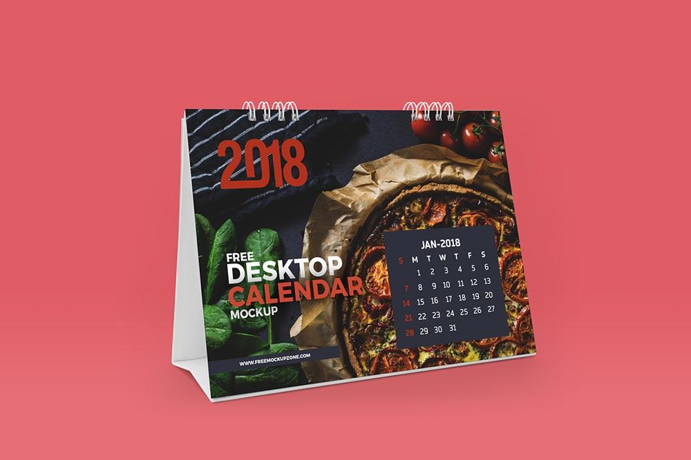 Free Desktop Calendar Mockup