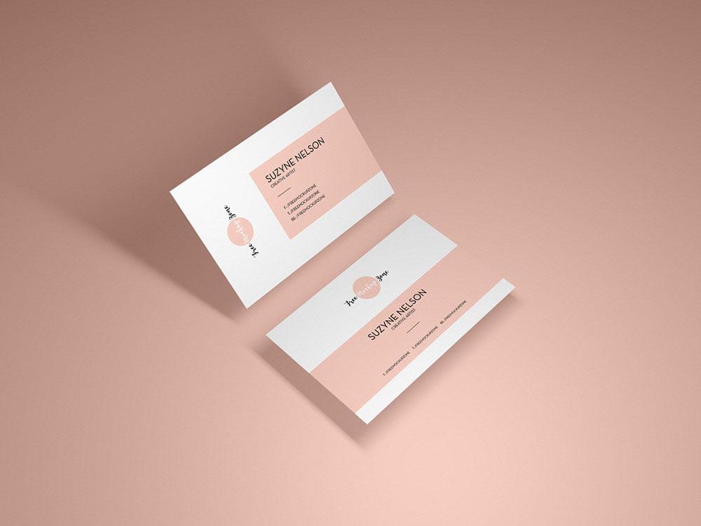 free psd modern business card mockup  mockuptree