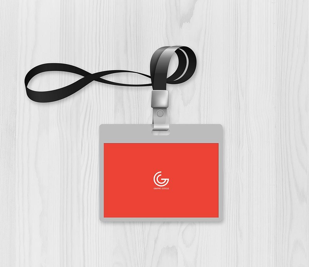 Free Office ID Card Mockup