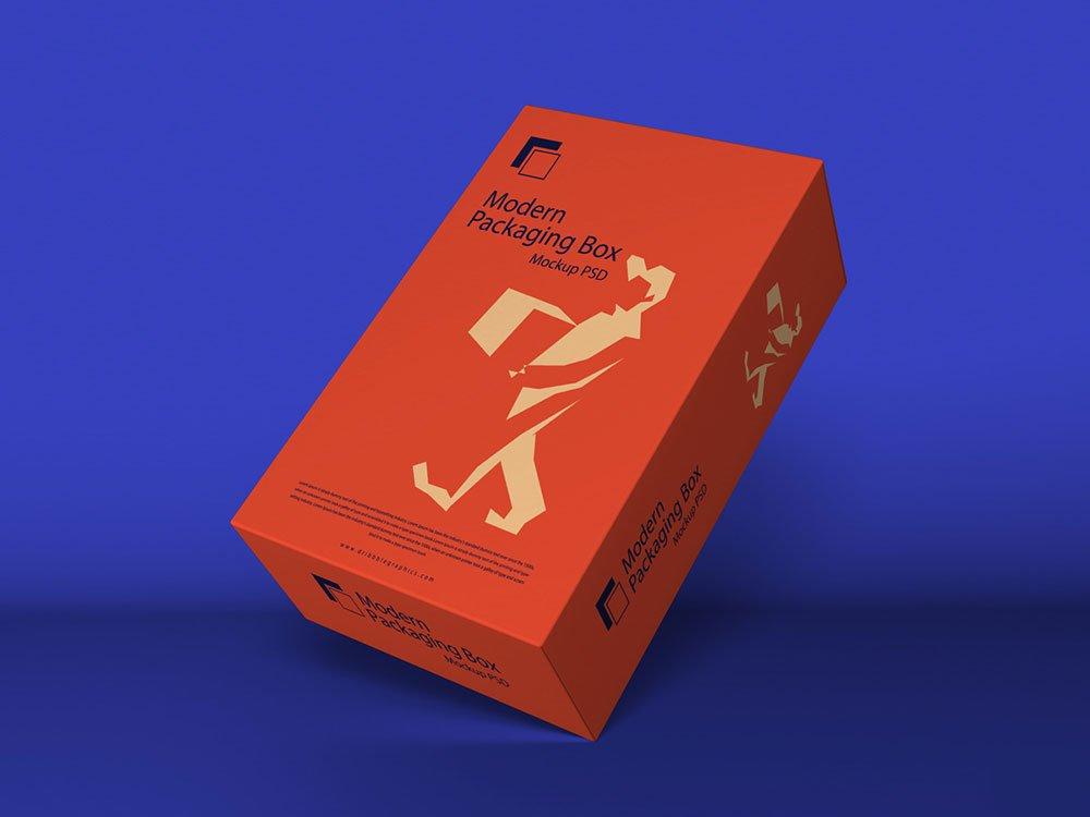 Free Modern Packaging Box Mockup