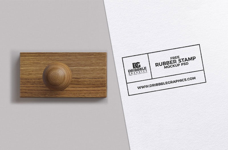 Free Rubber Stamp Mock-up PSD