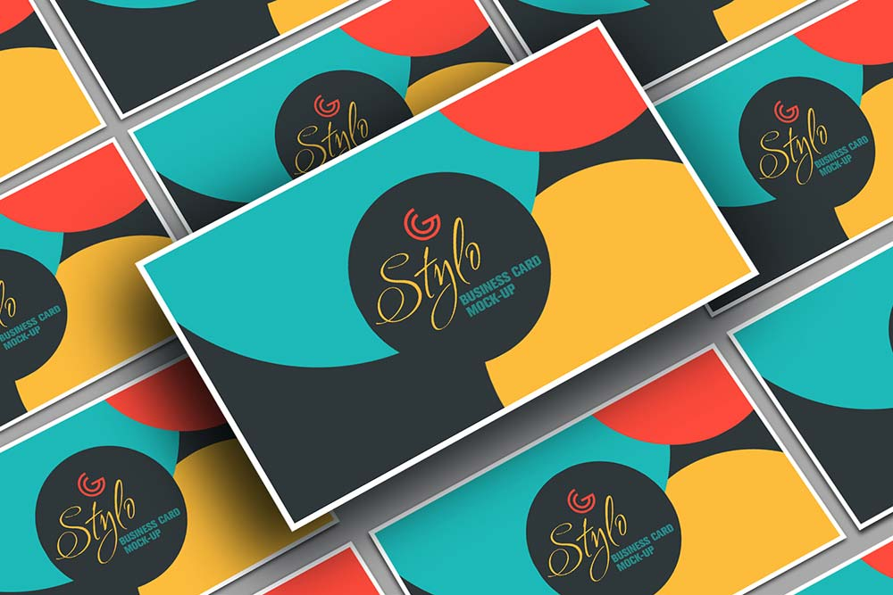 Free Stylo Business Card Mockup