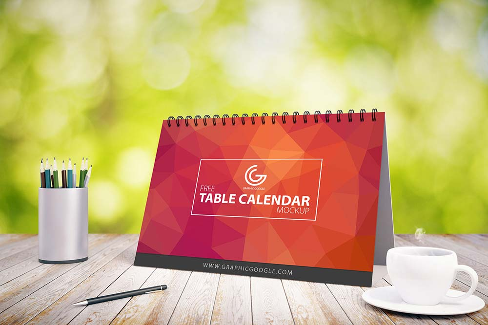 Free Table Calendar Mock-up
