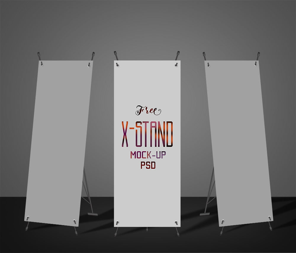 Free X-Stand Banner Mockup